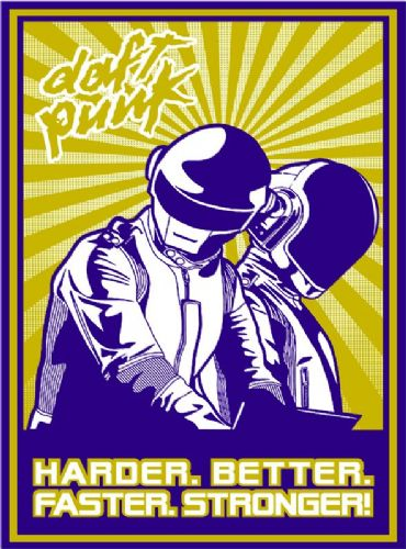 DAFT PUNK - Stronger - pop art (7) canvas print - self adhesive poster - photo print